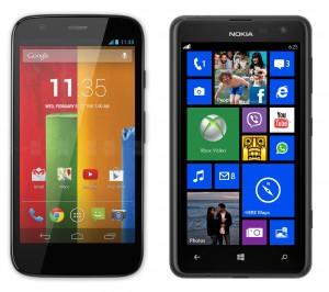 Moto G Lumia 625