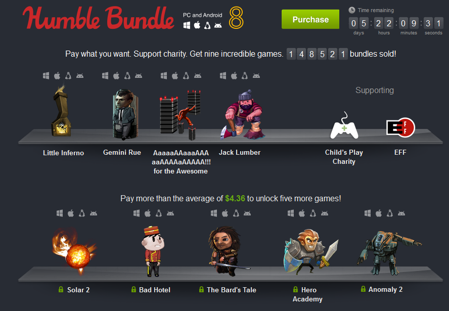 Humble Bundle 8 for Android and PC