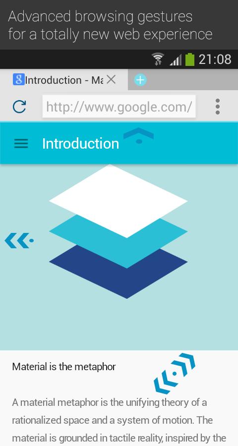 Llega el el navegador más ligero para Android de la mano de Now Material