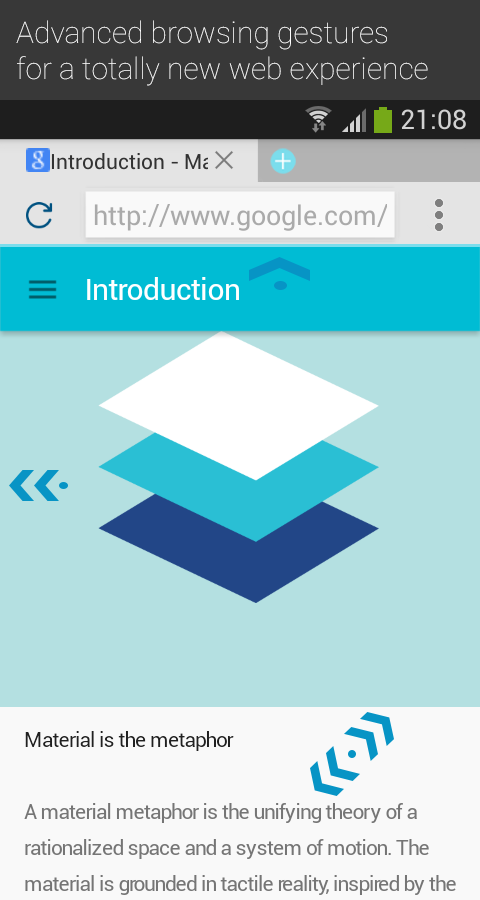 Now Material, the lightest browser for Android