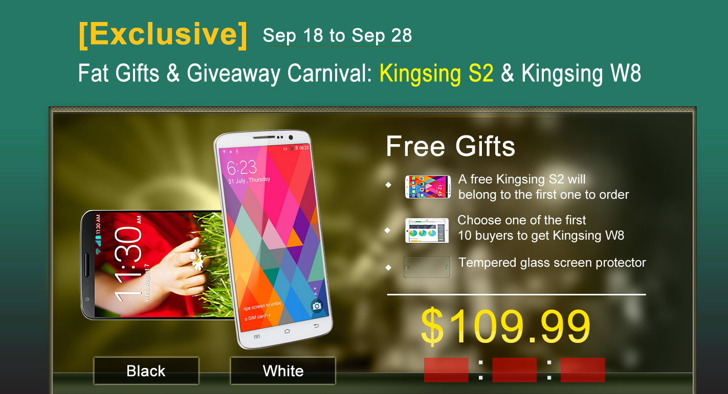 Kingsing S2 and Kingsing W8 Giveaway Promotion Review