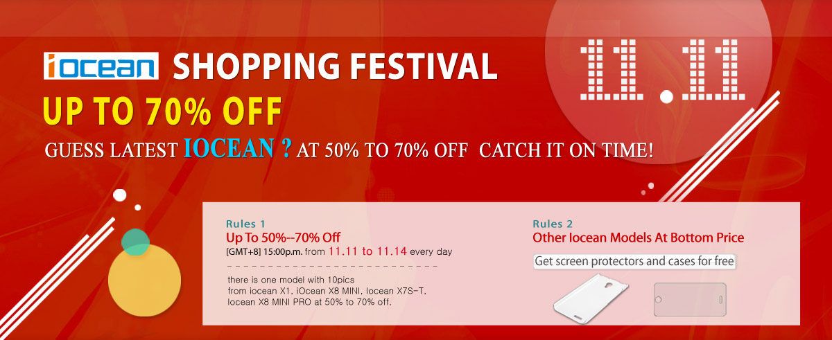 Shopping Festival for Latest iOcean X8 Mini, iOcean X8 Mini Pro up to 70% off on 11/11/2014-1
