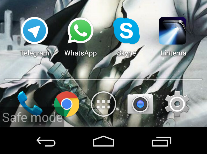 how to solve android safe mode