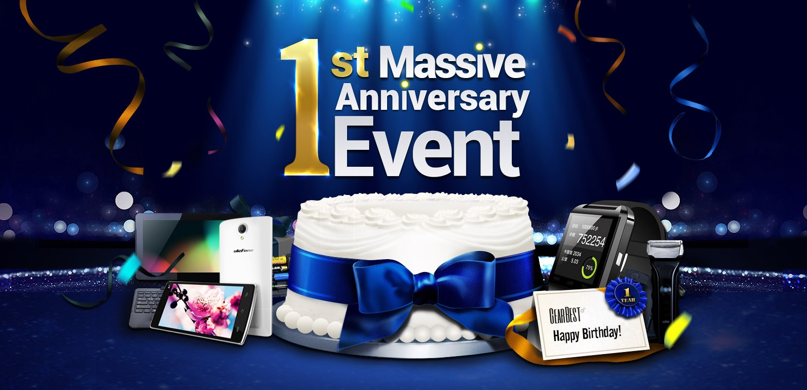Massive 1st Anniversary Event on GearBest