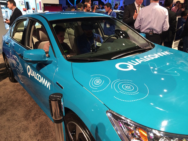 Qualcomm presents an in-car LTE connection 1