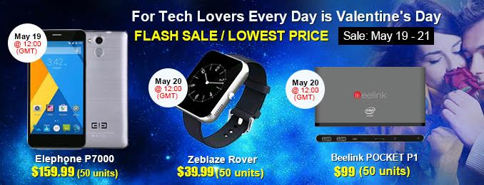 Gearbest big promotion (FLASH SALE) from 19 - 21 May 0