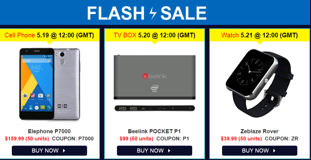 Gearbest big promotion (FLASH SALE) from 19 - 21 May 1