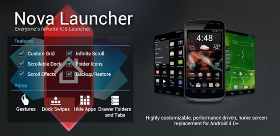Material Design no novo Nova Launcher 4.0