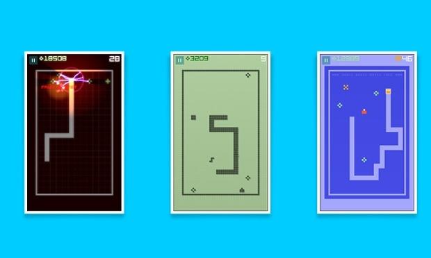 O Snake original chega a Android como o Snake Rewind