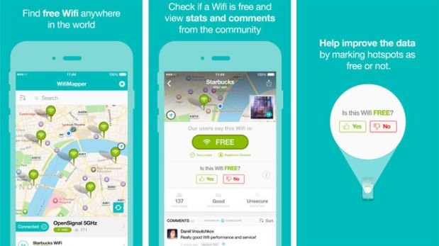 WifiMapper helps you to find free WiFi
