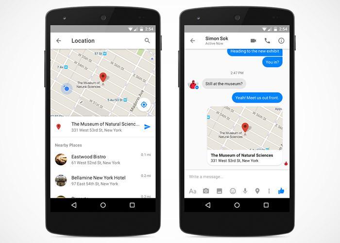 Disponible nueva forma de compartir nuestra localización a través de Facebook Messenger 1