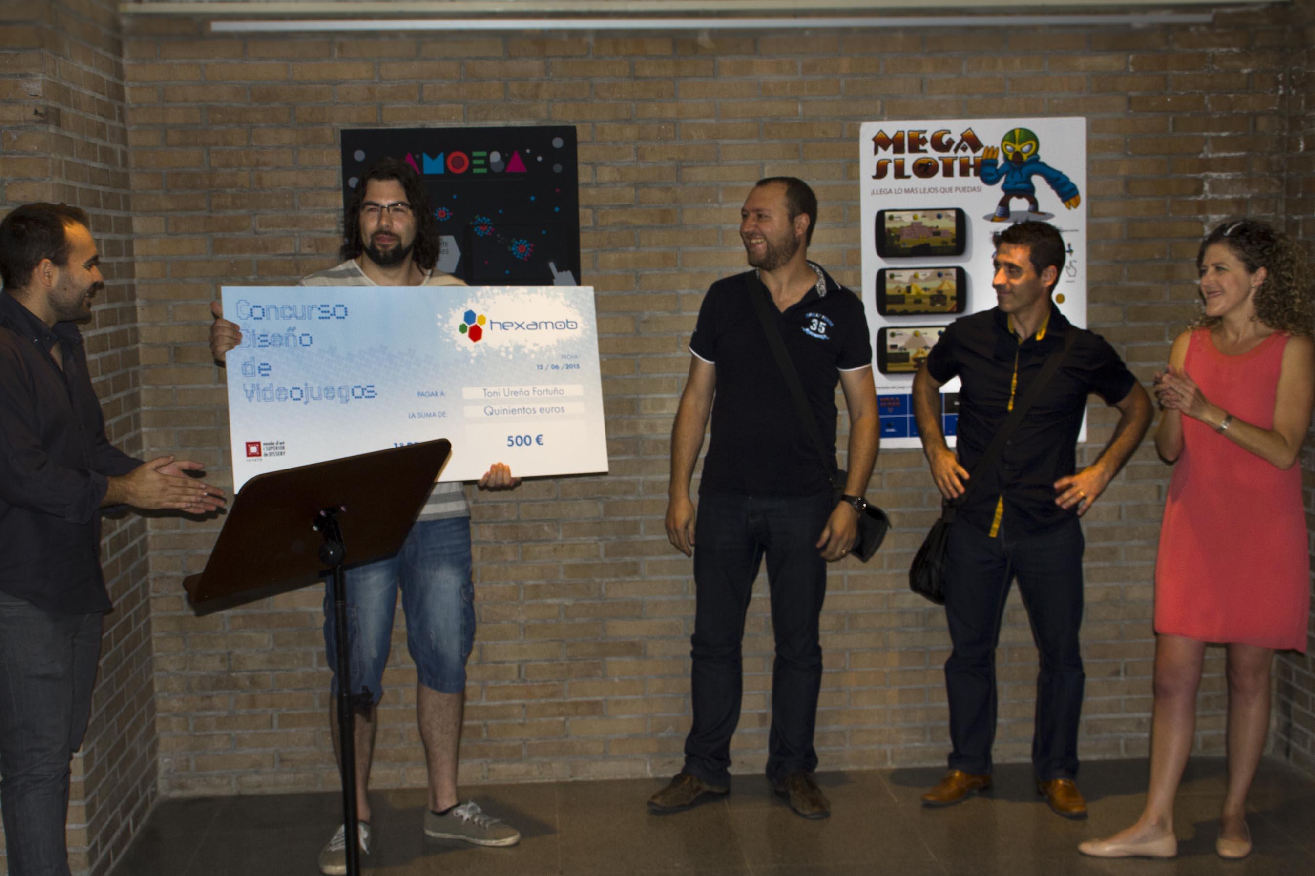 Entrega de premios - Concurso de diseño de Hexamob 2