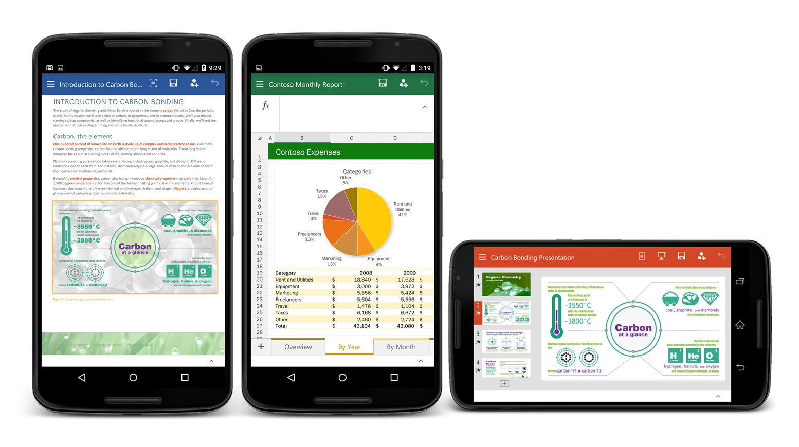 Word, Excel and Powerpoint for Android now available 1