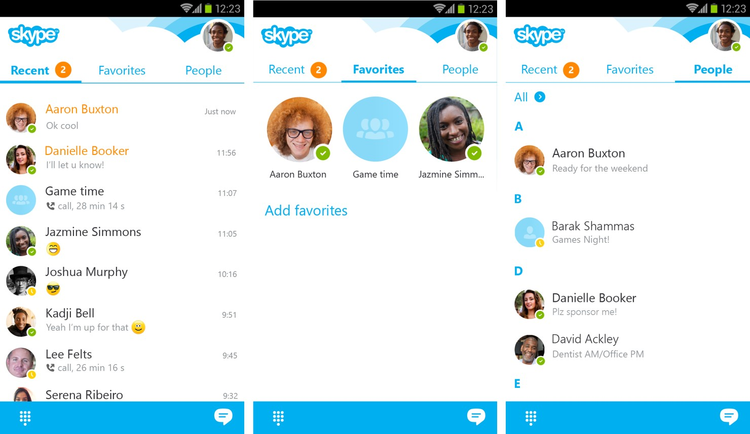 Skype for Android is updated with better visual design 1