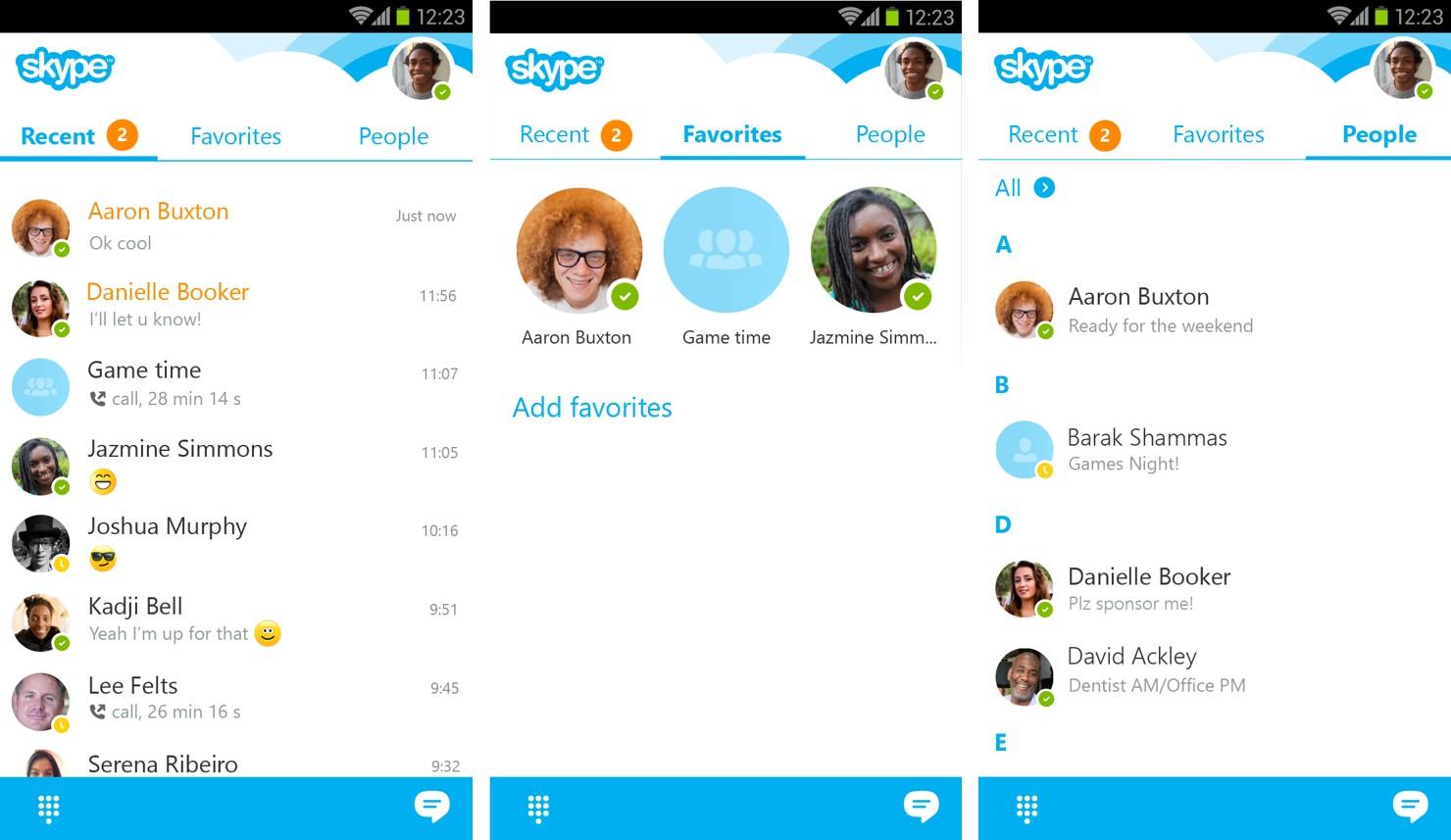 Skype para Android é atualizado com melhor design visual 1