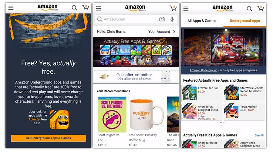 Amazon Underground ofrece gratis juegos y aplicaciones valoradas en más de 10.000 dólares