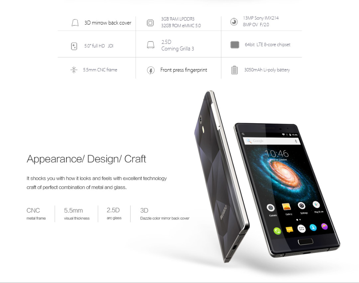 Bluboo Xtouch Review desde Gearbest 2