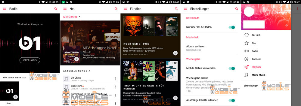 Leaked screenshots of Apple Music for Android 1