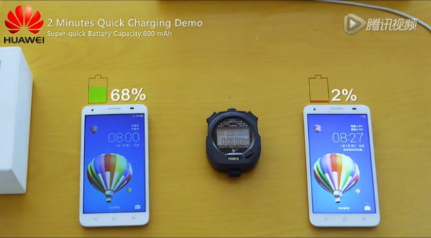 Huawei desenvolve tecnologia que carrega uma bateria ate o 48% em 5 minutos 1