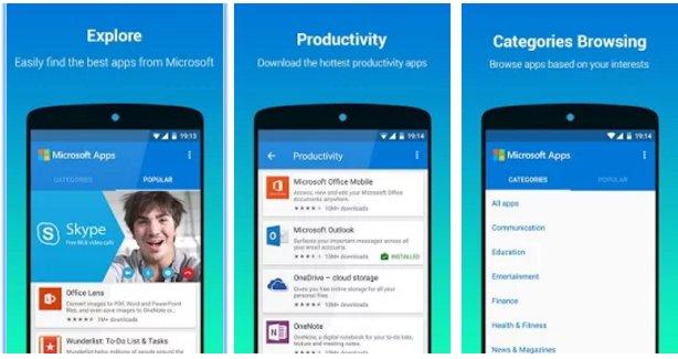 Microsoft lanca seu propria mini loja de aplicativos para Android no Google Play Store 1