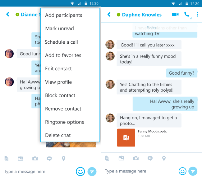 Skype for Android is updated to schedule calls and new options 1