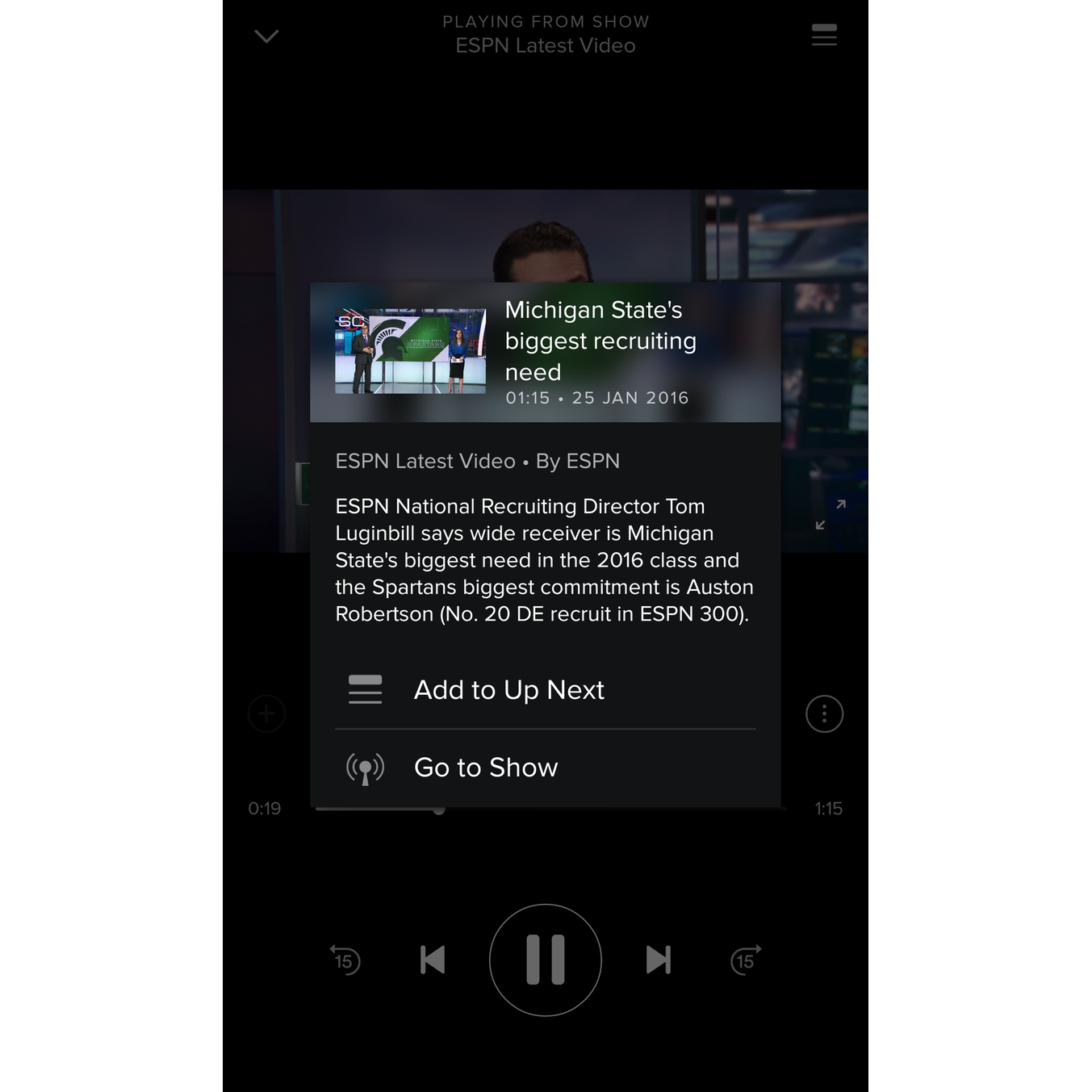 With Spotify you can already watch videos on Android and iOS 1