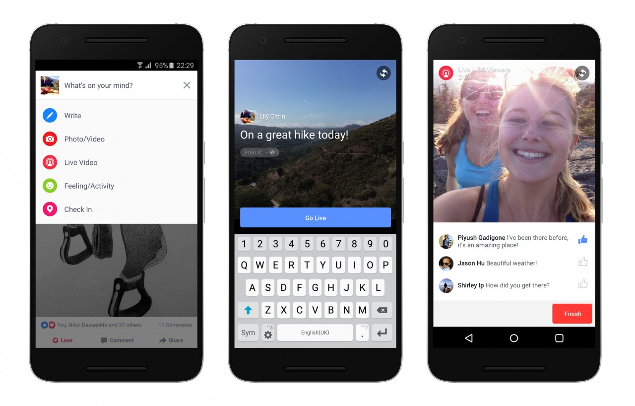 Facebook brings Live Streaming on Android 1
