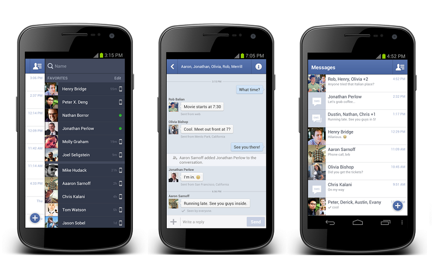 Facebook began testing the possibility to manage SMS from Messenger 1