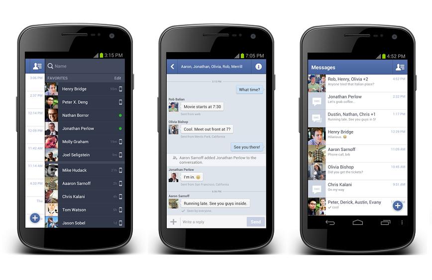 Facebook comenzo a probar la posibilidad de gestionar SMS desde Messenger 1