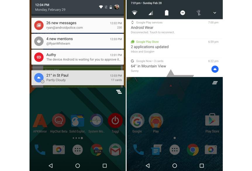 Android N se muestra por primera vez en una captura de pantalla 1