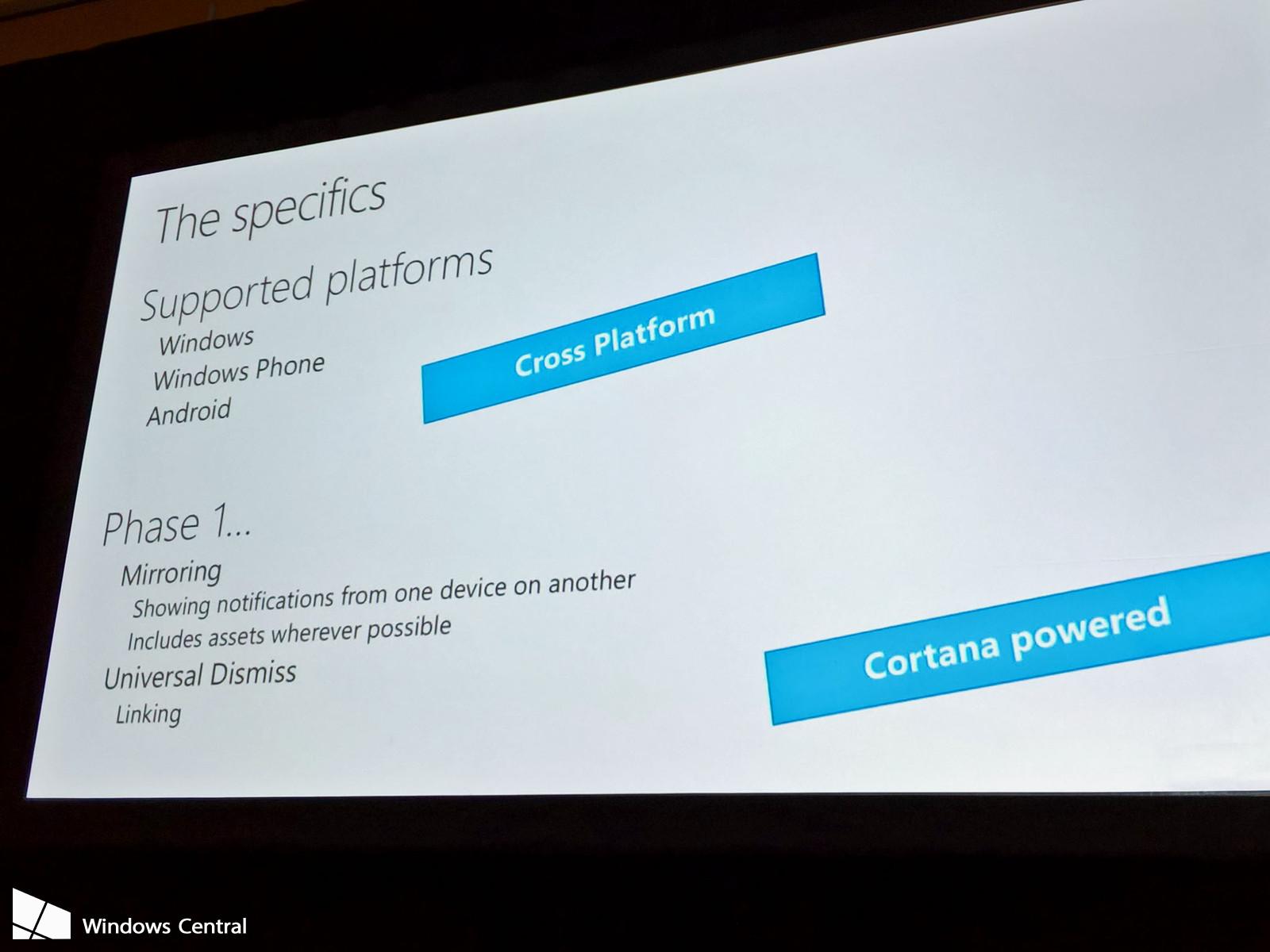 Windows 10 es compatible con las notificaciones de Android y Windows 10 Mobile 1