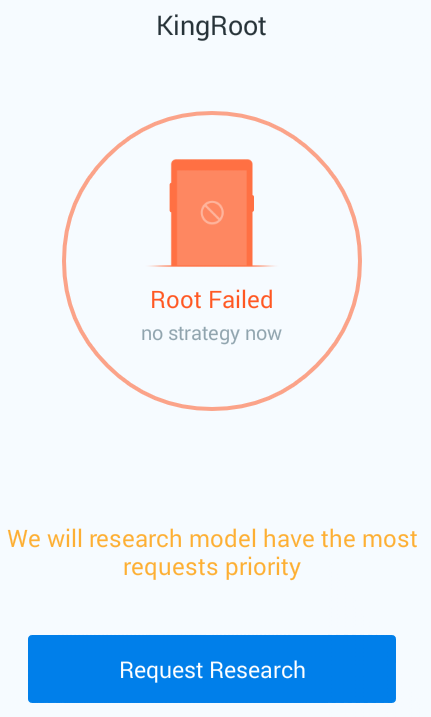 kingroot failed rooting hexamob