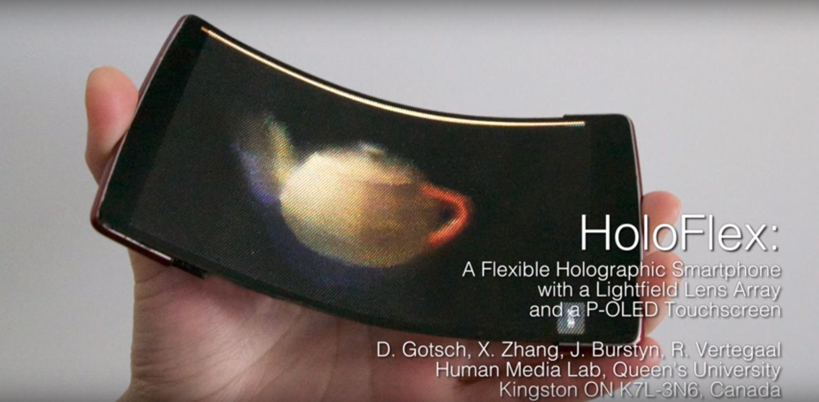 HoloFlex es un smartphone Android holografico y flexible 1