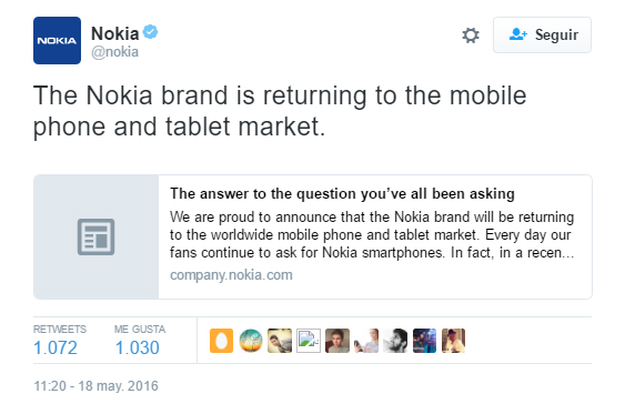 Nokia is officially back with a new Android smartphone 1