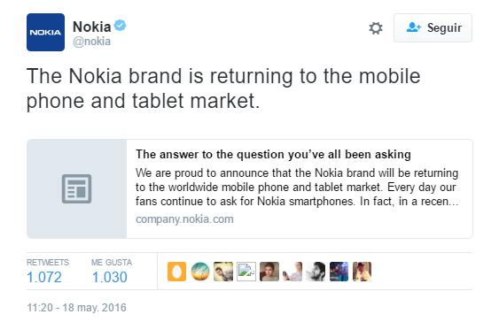 Nokia regresa oficialmente con un nuevo smartphone Android 1