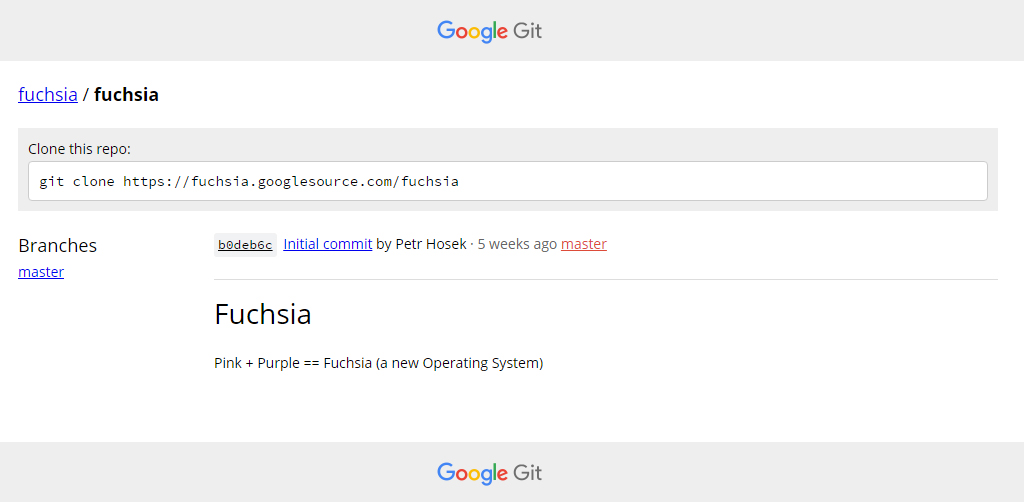 Google would be working on a new operating system for smartphones and PC named Fuchsia 1