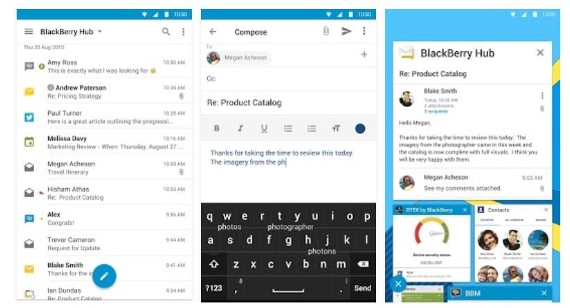 Toda la suite Hub+ de Blackberry llega a Android 1