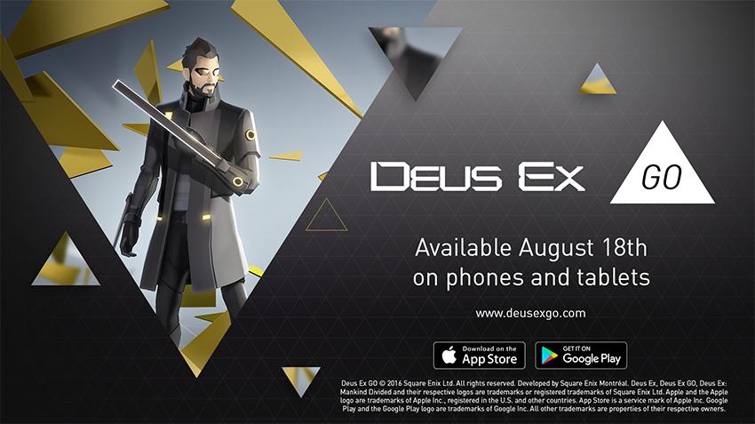 Deus Ex GO estreia-se em 18 de agosto no iOS e Android 1