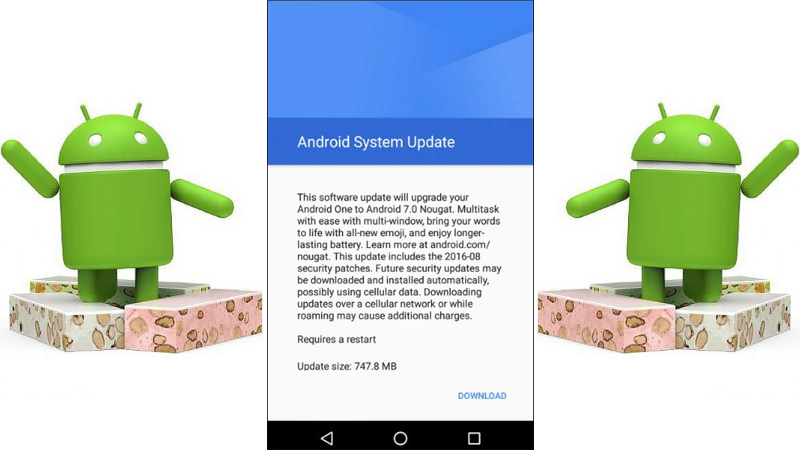 Android 7.0 Nougat is available for Android One 1