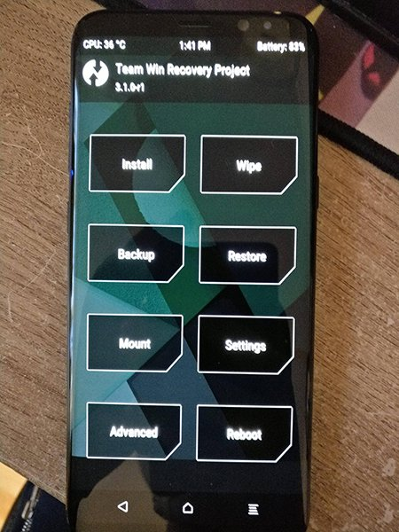Recovery TWRP now compatible with Samsung Galaxy S8 Plus