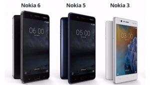Nokia 3, 5 e 6