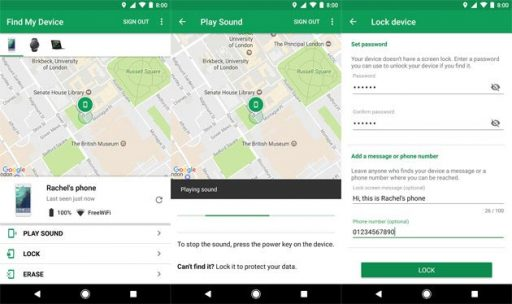 Android Device Manager torna-se Localizar o meu dispositivo (download) 1